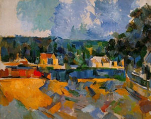 Landscape at the Shore by Paul Cezanne