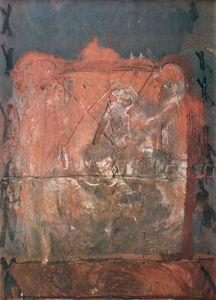 Relief in Brick Color by Antonio Tapies