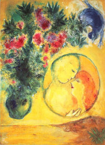 Sun and Mimosa by Marc Chagall