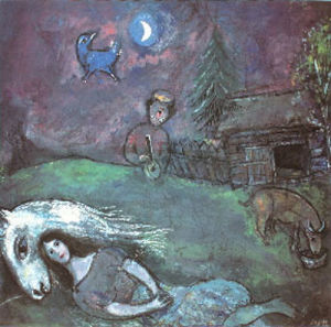 Rural Landscape by Marc Chagall