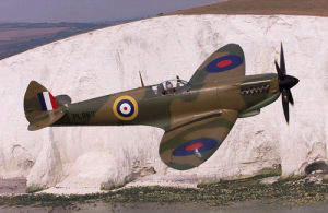 Spitfire over the White Cliffs of Dover by Anonymous
