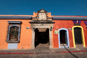 Colonial buildings, Antigua, Guatemala by Sergio Pitamitz
