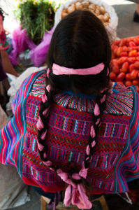 Hair ribbons, Salcaja, Guatemala by Sergio Pitamitz