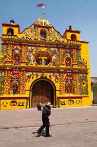 San Andres Xecul church, Guatemala by Sergio Pitamitz