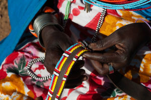 Detail of Samburu Woman hands, Loisaba Wilderness Conservancy, Laikipia, Kenya by Sergio Pitamitz