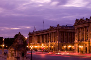 Place de la Concorde at dusk, Paris, France by Sergio Pitamitz