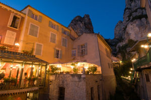 Moustiers-Sainte-Marie at dusk, Provence, France by Sergio Pitamitz