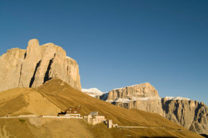 Val Gardena, Sella group, Passo Sella highest point, Bolzano, Trentino - Alto Adige, Italy by Sergio Pitamitz
