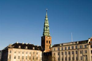 Nikolaj church and houses along Gammelstrand, Copenhagen, Denmark by Sergio Pitamitz