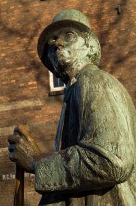 Radhuspladsen, Town Hall square, statue of Hans Christian Andersen, Copenhagen, Denmark by Sergio Pitamitz