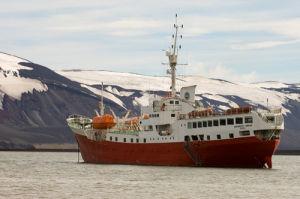 Antarctic Dream Ship, Telephone Bay, Deception Island, South Shetland Islands, Antarctica by Sergio Pitamitz
