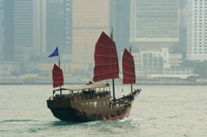 Chinese Junk, Hong Kong, China by Sergio Pitamitz