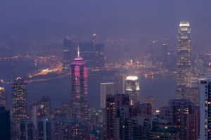 View from The Peak, Hong Kong, China by Sergio Pitamitz