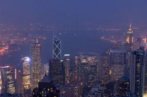 View from The Peak, Hong Kong, China by Sergio Pitamitz