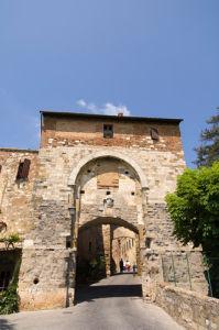 Porta delle Farine, Montepulciano, Val d'Orcia, Siena province, Tuscany, Italy by Sergio Pitamitz