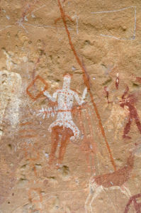 Prehistoric rock paintings, Akakus, Sahara desert, Fezzan, Libya (4) by Sergio Pitamitz