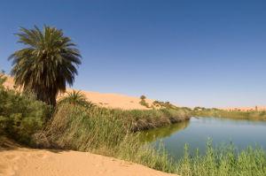 Mafu lake, Erg Awbari, Sahara desert, Fezzan, Libya by Sergio Pitamitz