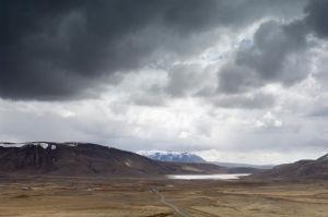 Lake on the road 52 to Thingvellir National Park, Iceland by Sergio Pitamitz