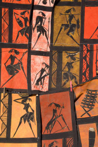 Figure prints in souvenir shop, Victoria Falls, Zambesi River, Zambia by Sergio Pitamitz
