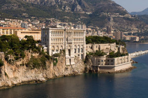 Monaco Oceanography Museum from the air, Cote d'Azur, Monaco by Sergio Pitamitz