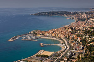 Menton from the air, Cote d'Azur, France by Sergio Pitamitz