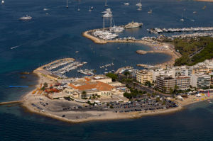 Cap de la Croisette and Palm Beach Casino, Cannes from the air, Cote d'Azur, France by Sergio Pitamitz