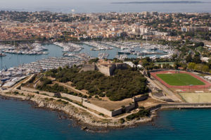 Fort Carre, Antibes from the air, Cote d'Azur, France by Sergio Pitamitz