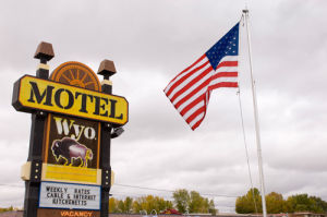 Motel sign, Buffalo, Wyoming, USA by Sergio Pitamitz