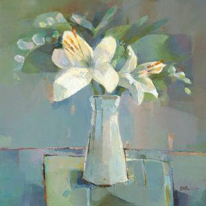 Lillies and Freesias by Sarah Simpson