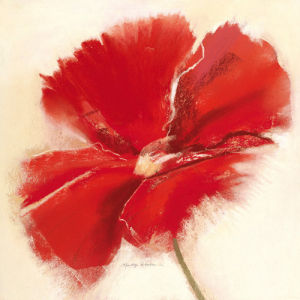 Red Poppy Power IV by Marilyn Robertson