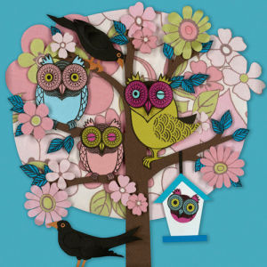 Summer Owl Tree by Helen Musselwhite
