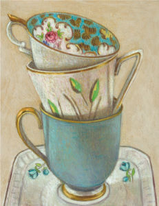 3 Cups on Saucer by Andrea Letterie