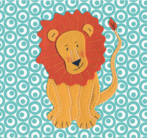 Fuzzy Lion by Catherine Colebrook