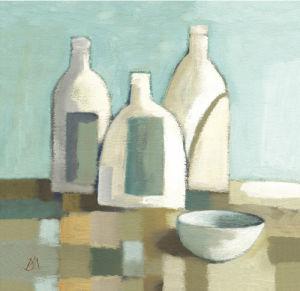 Still Life with Bottles II by Derek Melville