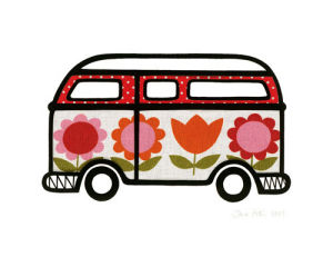 Flower Power Camper by Jane Foster