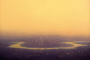 Yellow Canary Wharf by Jenny Pockley