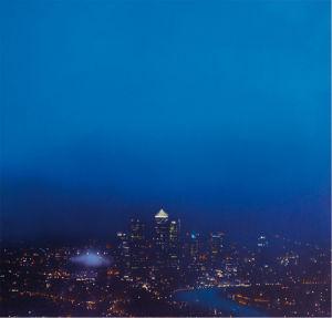 Blue Canary Wharf (Study) by Jenny Pockley