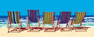 Five Deckchairs by Jonathan Sanders