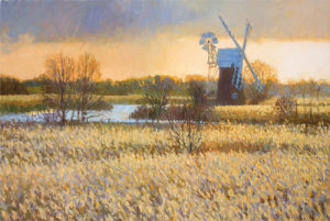 Passing Storm over Turf Fen Mill by Nicholas Verrall