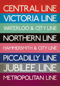 London Transport Tube Lines by Transport for London