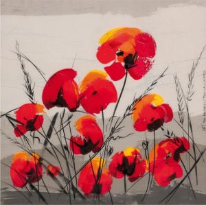 Multiple Poppies by Tibi Hegyesi