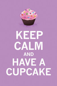 Keep Calm and Have a Cupcake (Lavender) by The Vintage Collection