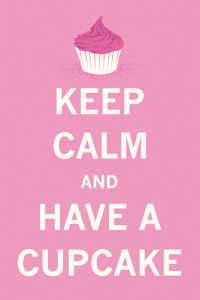 Keep Calm and Have a Cupcake (Pink) by The Vintage Collection