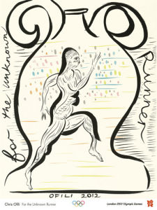 London 2012 Official Poster - For the Unknown Runner by Chris Ofili