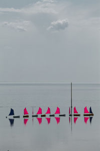 Sailing school at Granville II by Jean Guichard