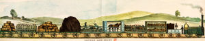 Liverpool-Manchester Railway, Cattle and Goods by W. Crane