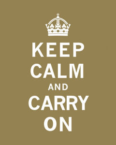 Keep Calm and Carry On VII by The Vintage Collection