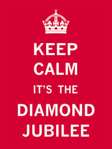 Keep Calm Diamond Jubilee II by The Vintage Collection
