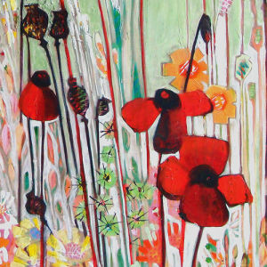 Poppy Field (detail) by Shyama Ruffell