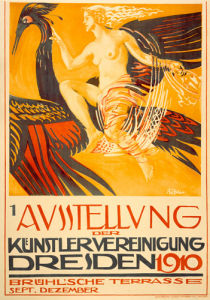 Art Exhibition, Dresden 1910 by Paul Rossler